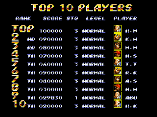 Streets of Rage 3 Enhance Mod - crap 9th  place! - User Screenshot